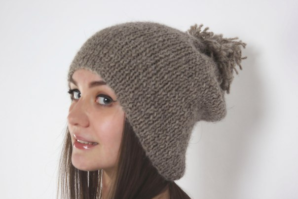 Объёмная шапка спицами nataljatitkova, объёмные вязаные ...