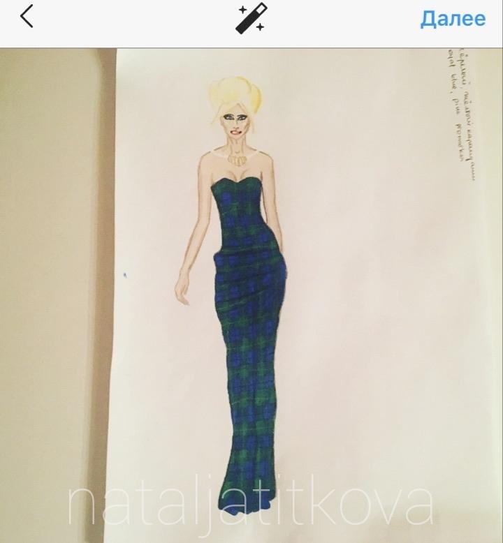Мк рисунка платья