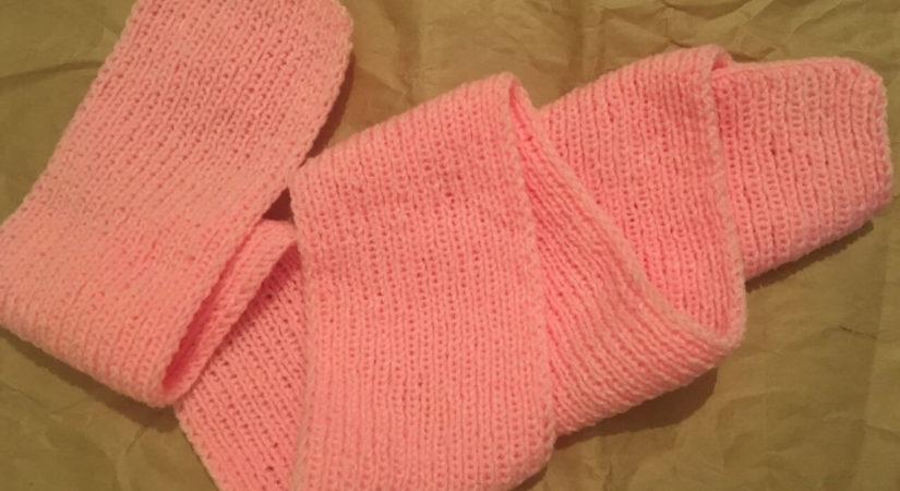Как связать шарфик для девочки спицами за 1 месяц